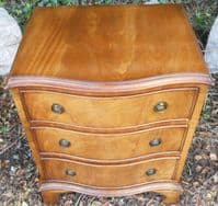 SOLD Small Serpentine Front Mahogany Chest of Drawers by Bevan Funnell Reprodux